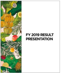 FY 2019 result presentation
