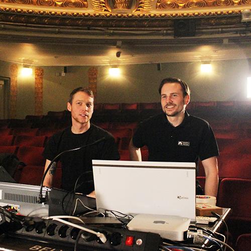 Oskar Österholm och Nils-David Carlsson. Foto: Jeanette Söderwall