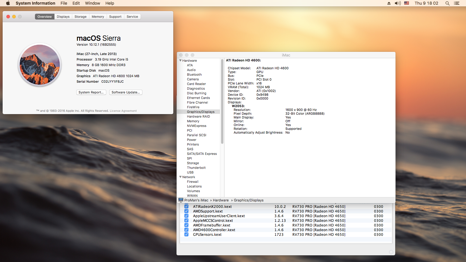ATI Radeon HD 4650 for Sierra 10 12 1 (16B2555) - ATI