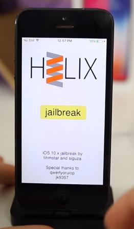 H3lix Jailbreak iOS 10 - 10 3 3 - iOS Hack - osx86 net