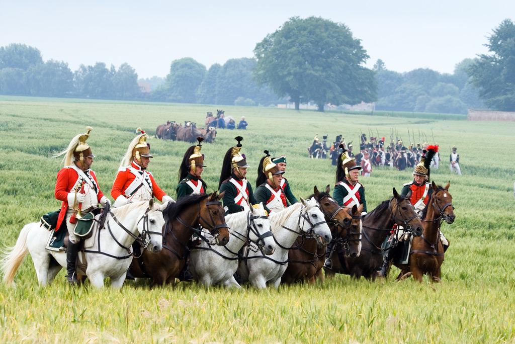 Фото: Инсценировка битвы при Ватерлоо