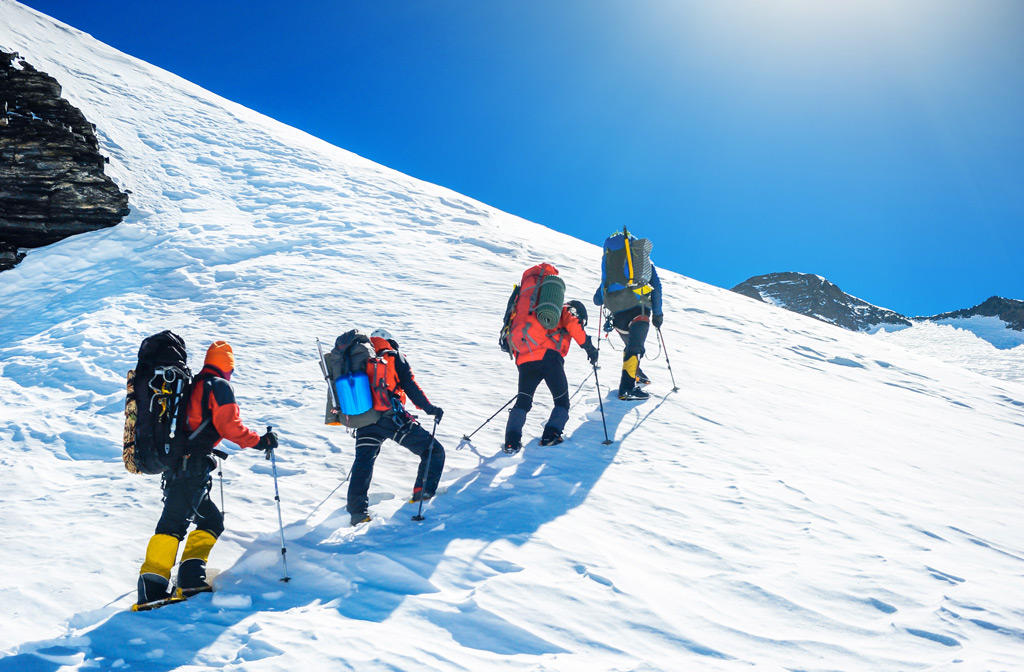 Фото: Группа альпинистов