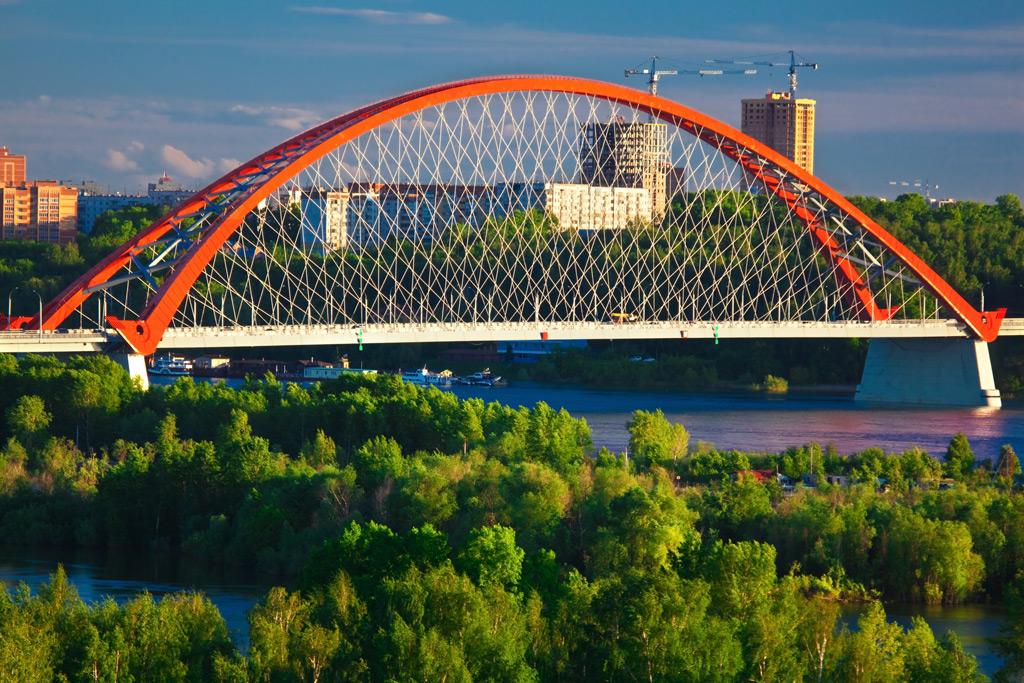Фото: Бугринский мост через реку Обь