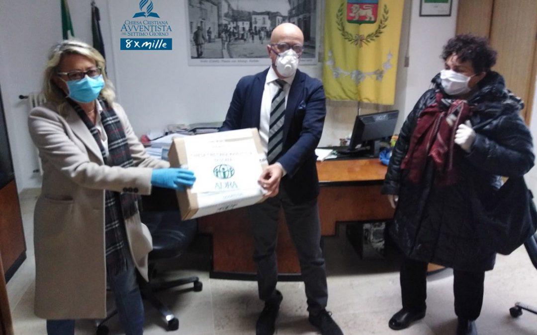 La Chiesa Avventista di Scafa dona all'Amministrazione comunale 120 mascherine
