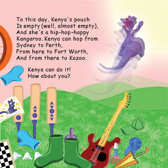 Kenya the Can't Garoo Meets Dr. Cluck – illustrated by Rotem Omri by Mel Rosenberg - מל רוזנברג - Illustrated by Rotem Omri  - Ourboox.com