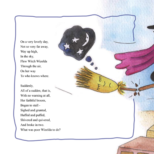 Witch Wizelda and the Talking Toothbrush. Illustrations: Tali Niv-Dolinsky by Mel Rosenberg - מל רוזנברג - Illustrated by Tali Niv-Dolinsky - Ourboox.com