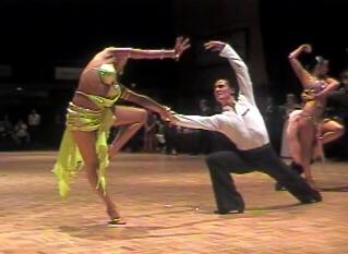 Dancing a rumba