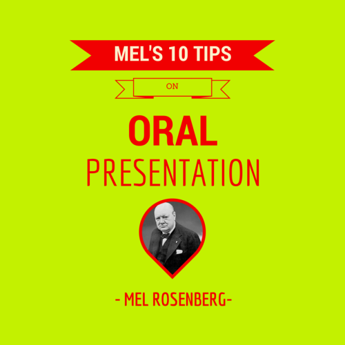 Mel's Ten Tips on Oral Presentations and Public Speaking by Mel Rosenberg - מל רוזנברג - Ourboox.com