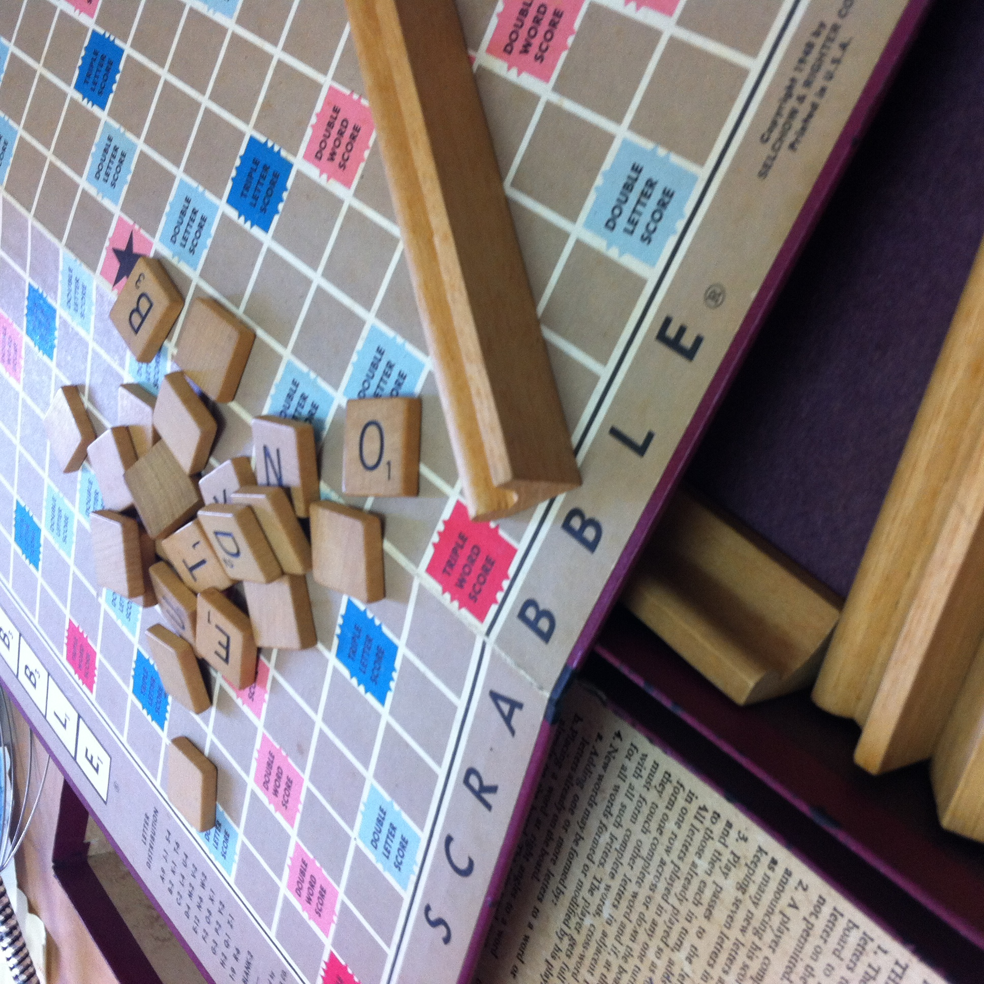 The original Scrabble game I used to play with my Mom and Dad