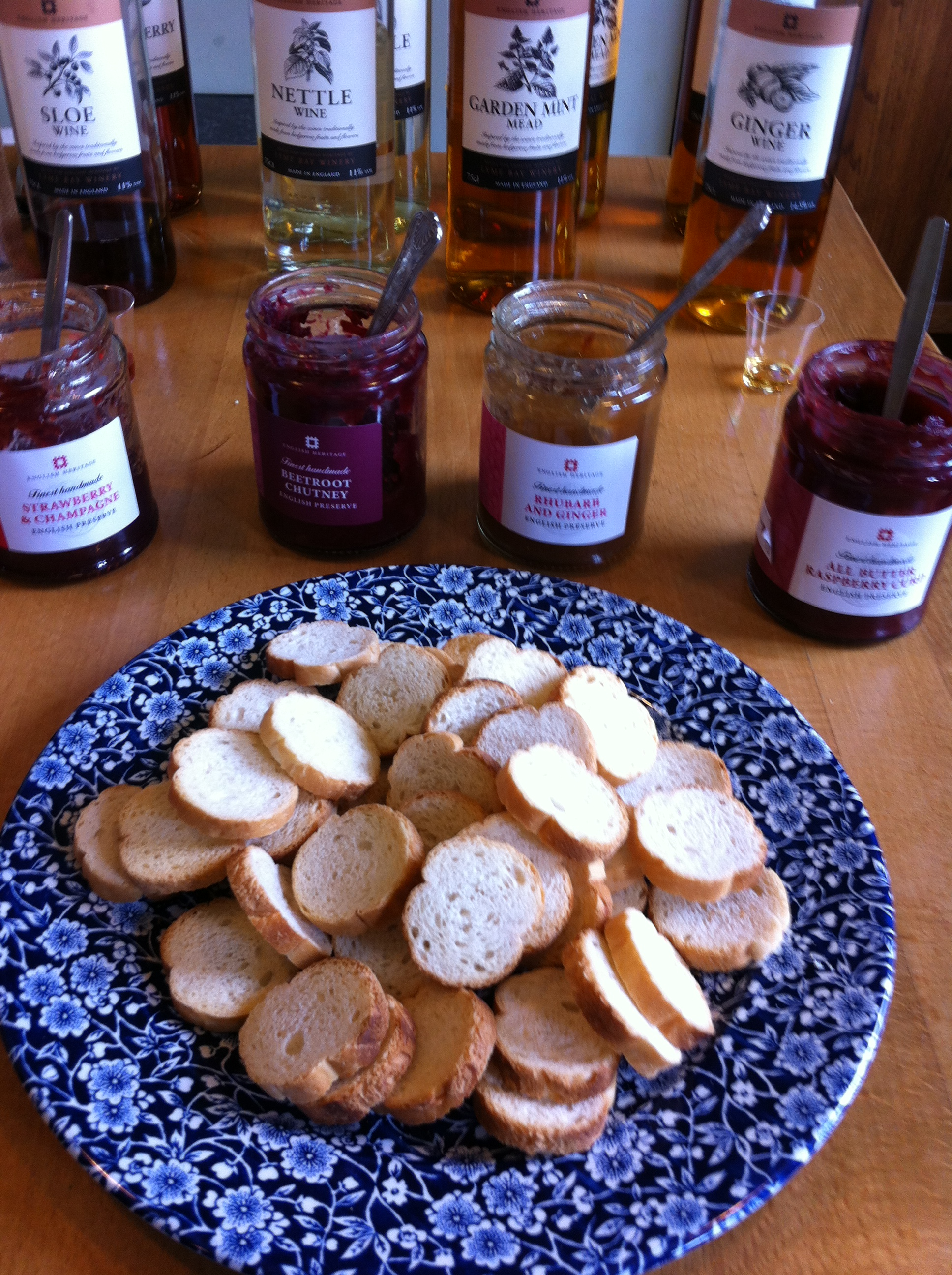 Jam and bread at the home of Charles Darwin