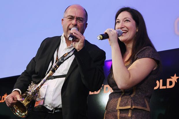 Randi and Mel singing and having fun