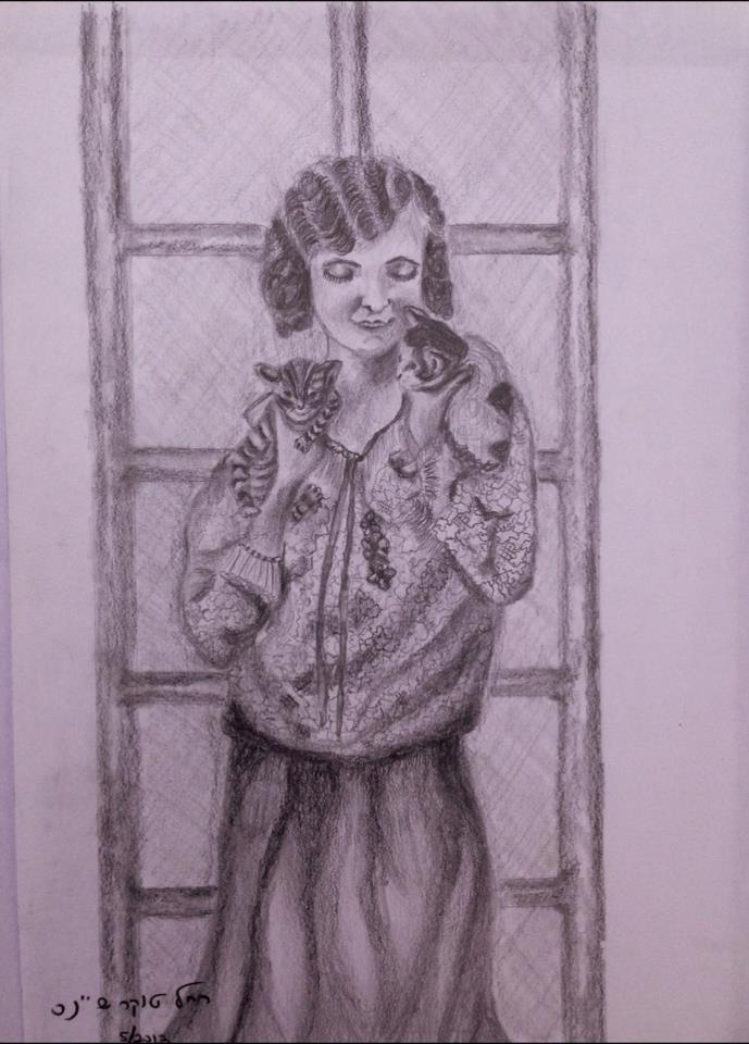 Artwork from the book - My sketches – Affair with a pencil הרישומים שלי – רומן עם עיפרון by Rachel Tucker Shynes - Illustrated by Rachel Tucker Shynes/רחל טוקר שיינס - Ourboox.com