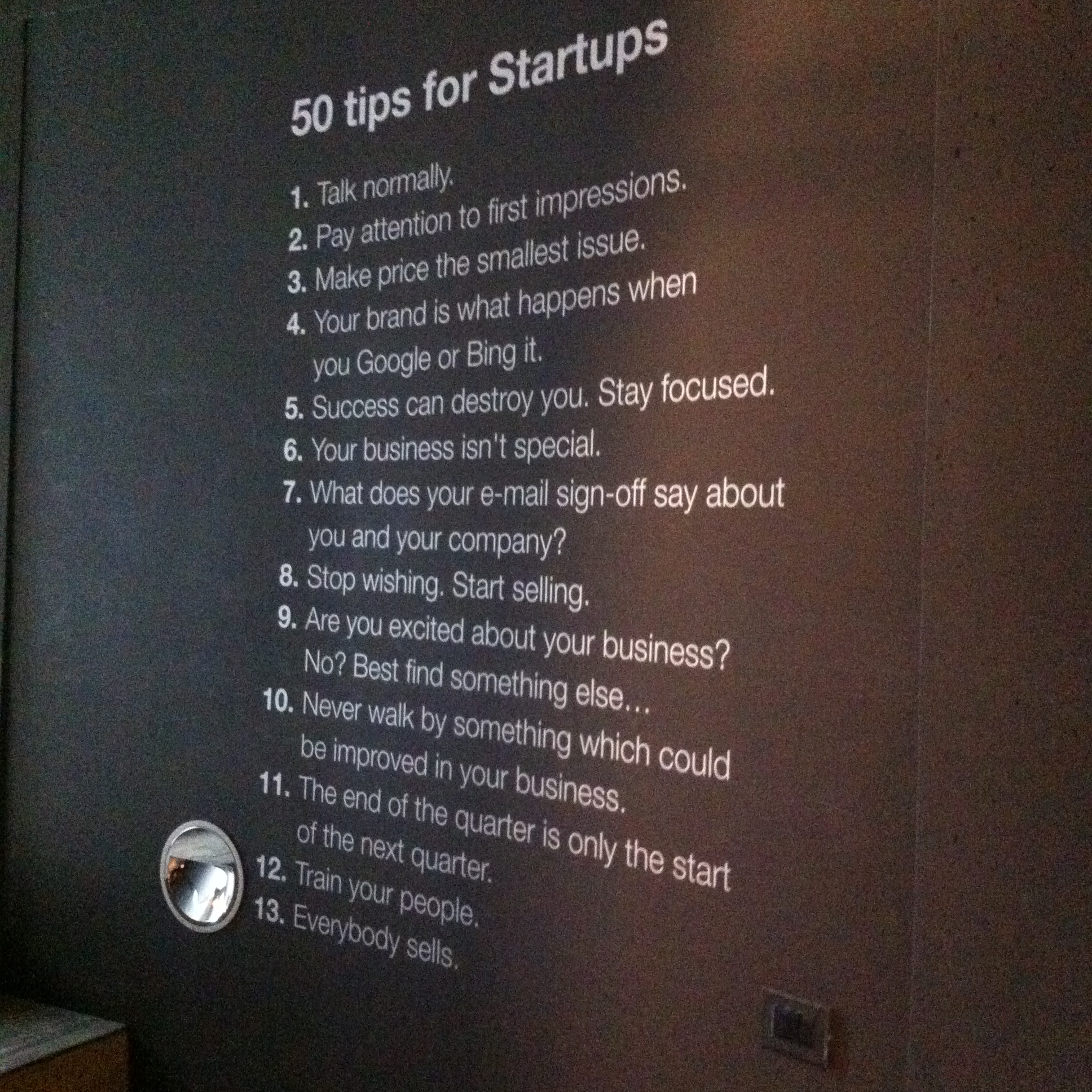 50 tips for startups at the H-farm