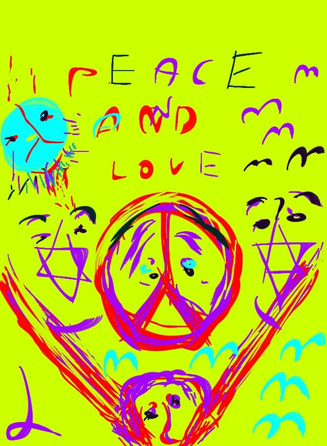 Artwork from the book - Peace and war by Moshe Dazin - Illustrated by Moshe Dazin - Ourboox.com
