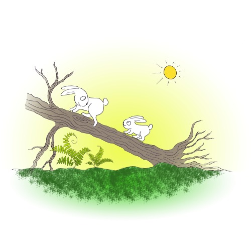Artwork from the book - Springy and Tiny-a story of a special brother by Ifat Shuster - Illustrated by Irena Brodeski - Ourboox.com