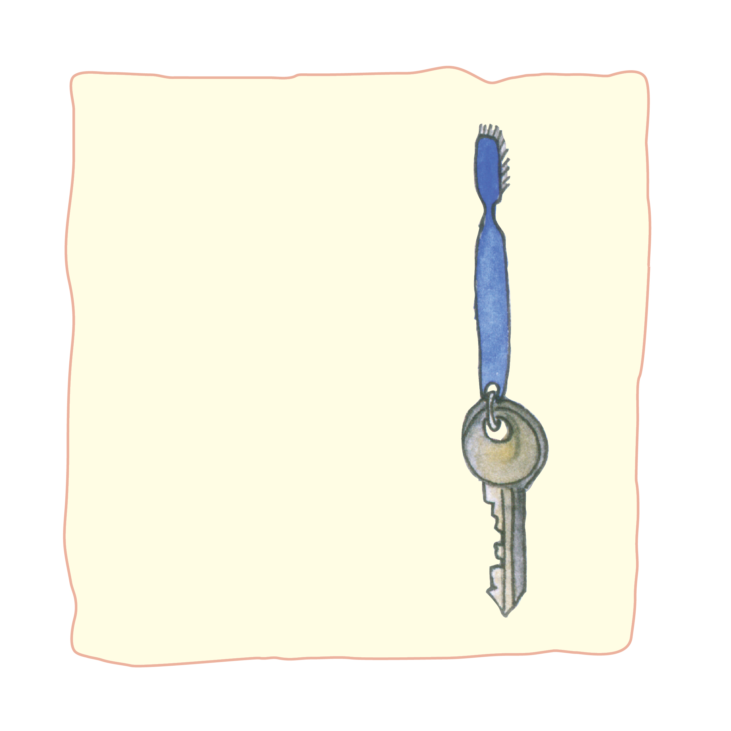 אפשר להכין מחזיק מפתחות להיט או אפילו תכשיט. איירה: טלי ניב-דולינסקי