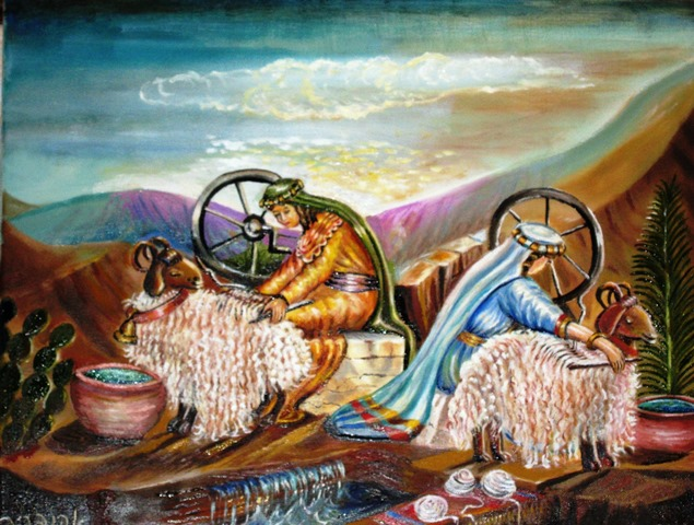 """הכר את האמן-אהובה קליין ציירת ציורי התנ""""ך by guy reguev - Illustrated by אהובה קליין - Ourboox.com"""