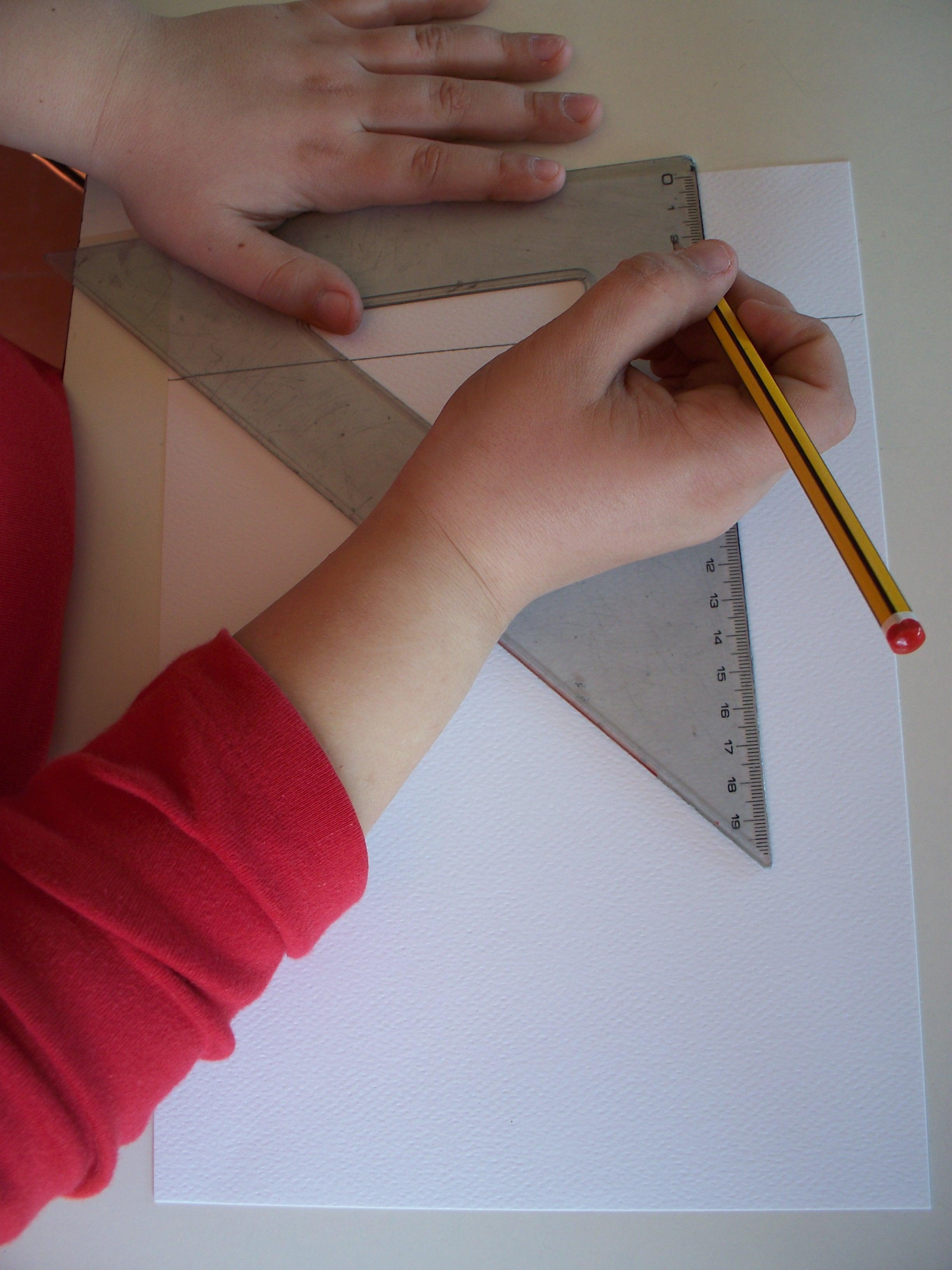 Traccia le linee orizzontali e verticali