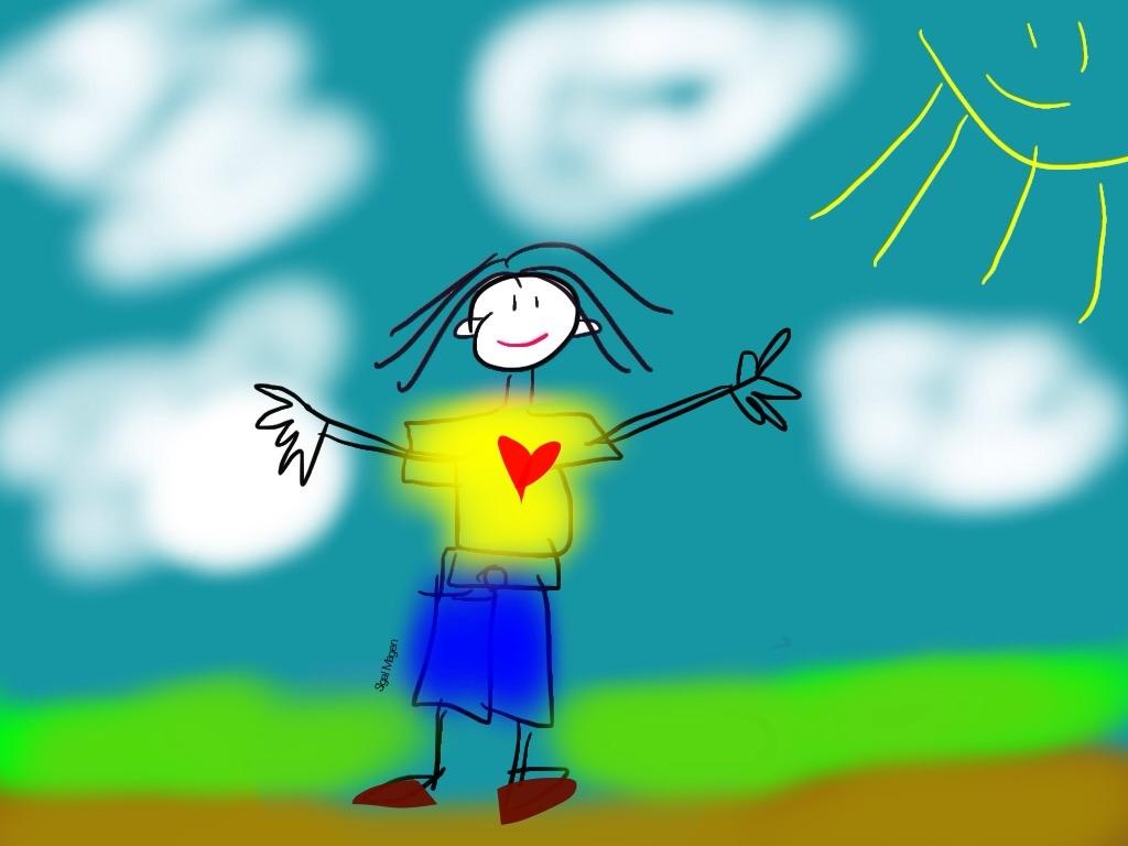 – גרסה לבן – כְּשֶׁאַבָּא מֵת by Sigal Magen - Illustrated by סיגל מגן - Ourboox.com