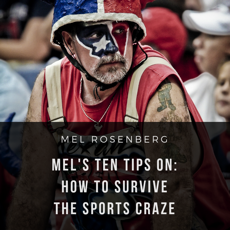 Artwork from the book - Mel's Ten Tips on how to Survive the Sports Craze by Mel Rosenberg - מל רוזנברג - Ourboox.com