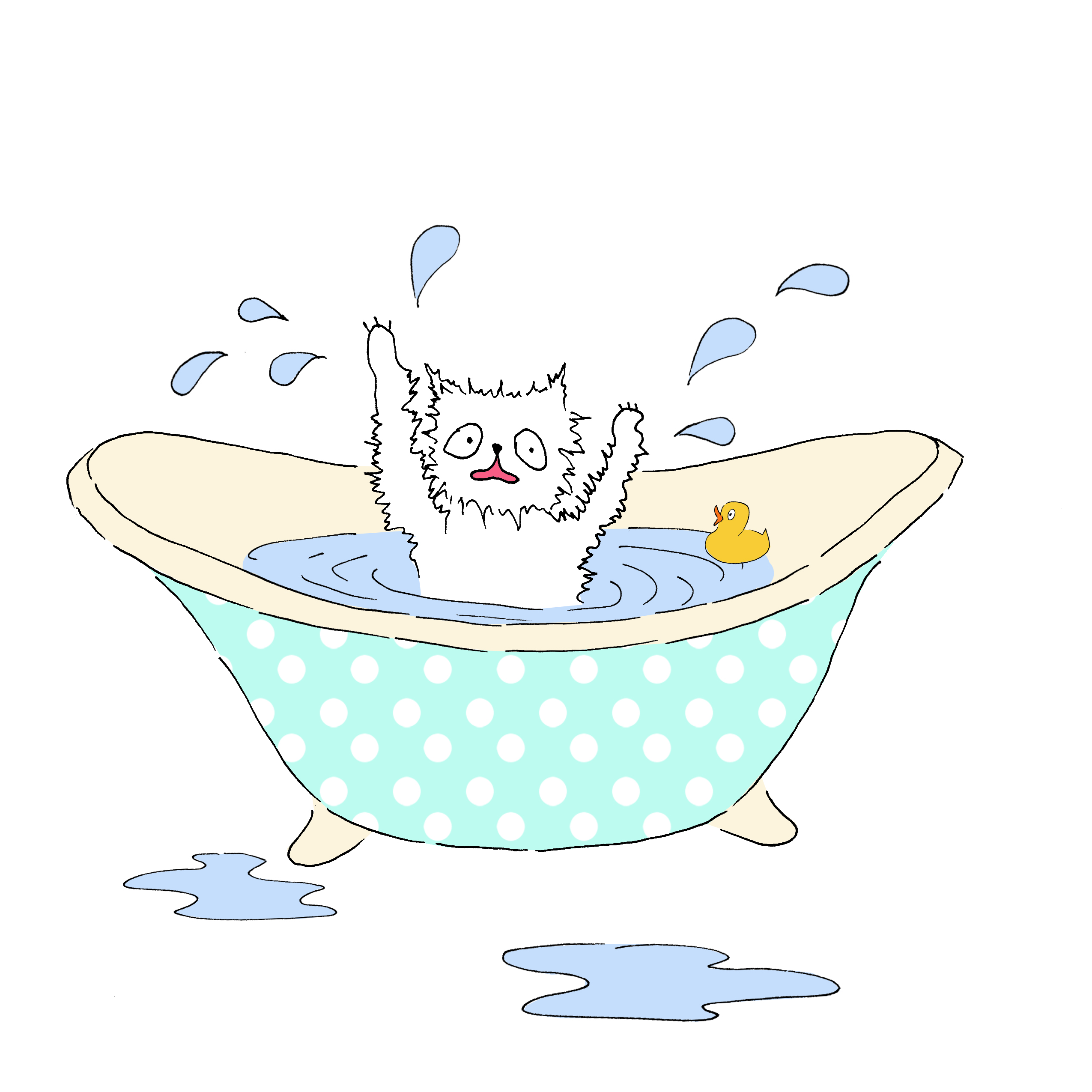 Мими&Китти – 7 – Китти учится плавать by Irena Brodeski - Illustrated by Irena Brodeski - Ourboox.com