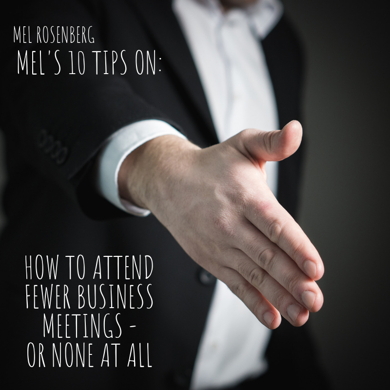 Artwork from the book - Mel's 10 Tips on How to Attend Fewer Business Meetings – or None at All by Mel Rosenberg - מל רוזנברג - Ourboox.com