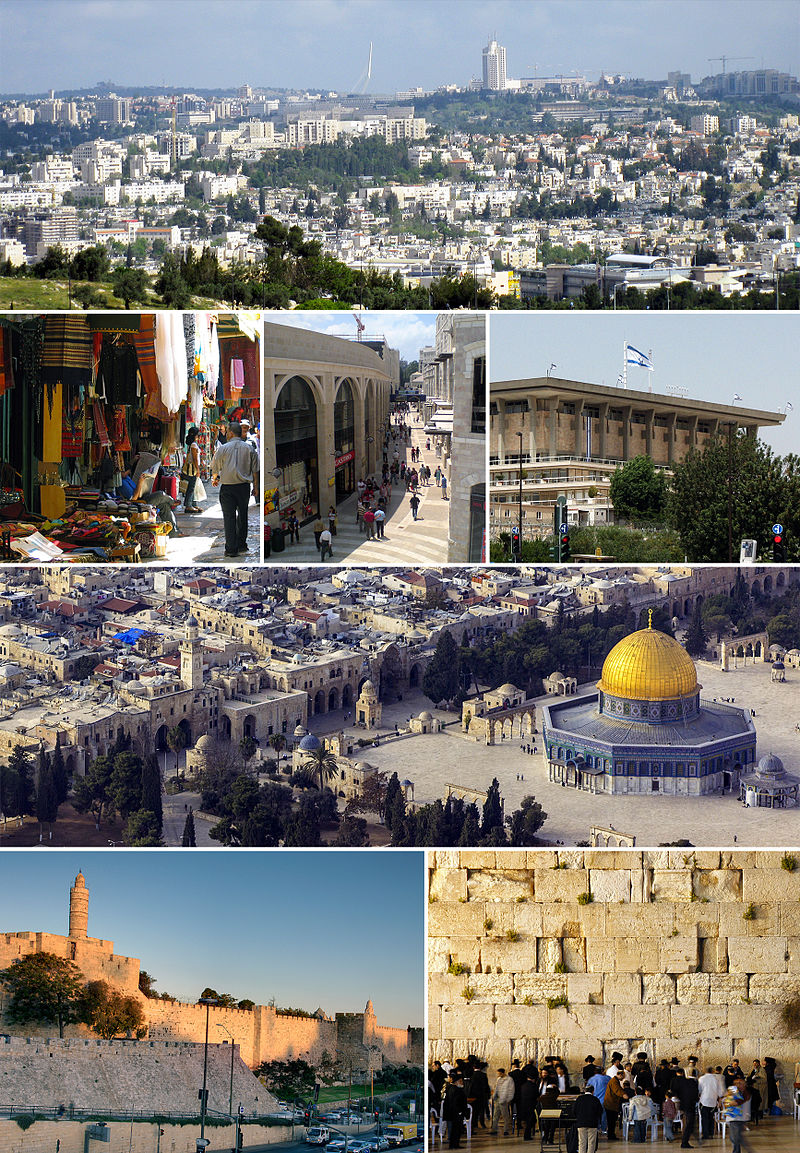 jerusalem city by eslam kabuha - Illustrated by it's the capital of israel , great and heirstorecal  city .  every time you will visit jerusalem you will fall in love with it .  is a city located on a plateau in the Judaean Mountains between the Mediterranean and the Dead Sea. One of the oldest cities in the world,  - Ourboox.com