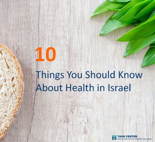 10 Things You Should Know About Health in Israel by The Taub Center - Ourboox.com