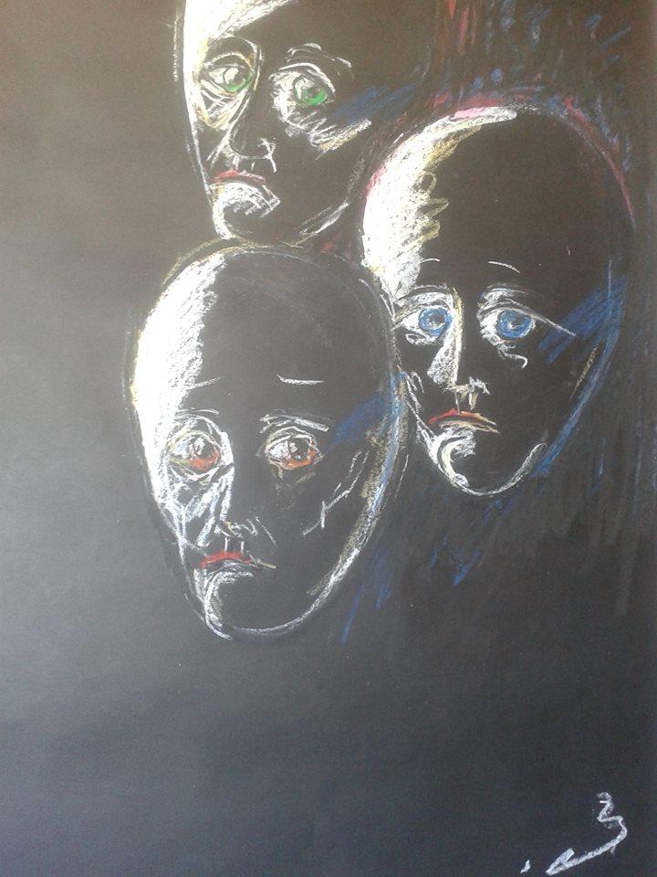 Artwork from the book - מאחורי המסיכות by tsipi baravi - Illustrated by ציפורה בראבי - Ourboox.com