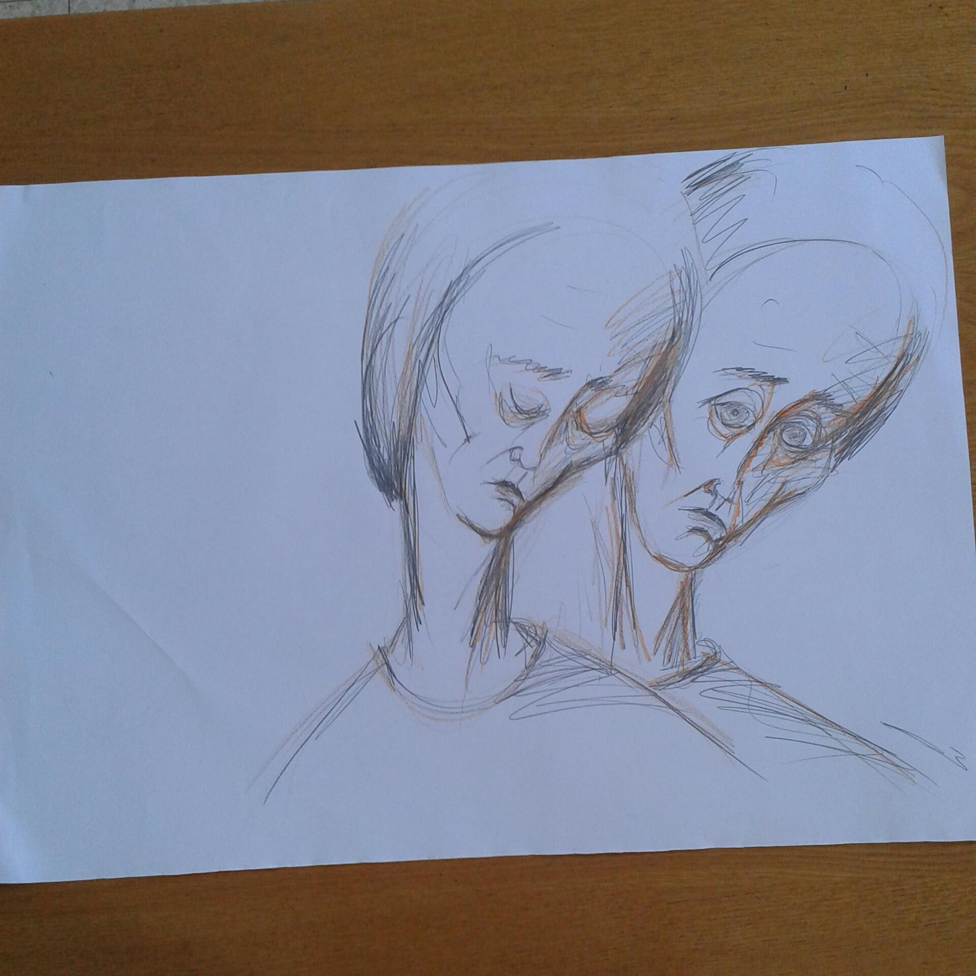 בעיפרון ובצבעים על חצי בריסטול – ציפורה בראבי by tsipi baravi - Ourboox.com