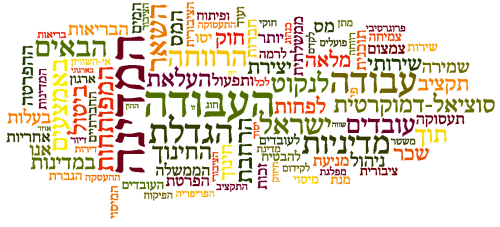 Artwork from the book - מהפך ! ולעבודה ! by Yoged Amnon - יגודז