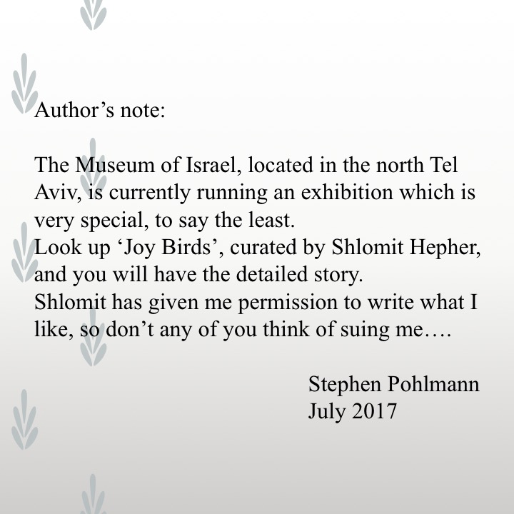 Artwork from the book - Old People's Birds by Stephen Pohlmann - Illustrated by The Elderly of Israel - Ourboox.com