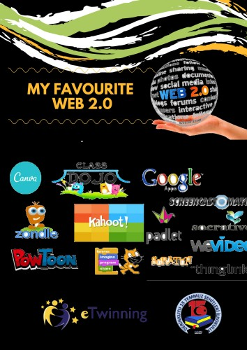 Artwork from the book - My Favourite Web 2.0 by aylnakyz - Illustrated by AYLİN AKYÜZ and 4/A  - Ourboox.com
