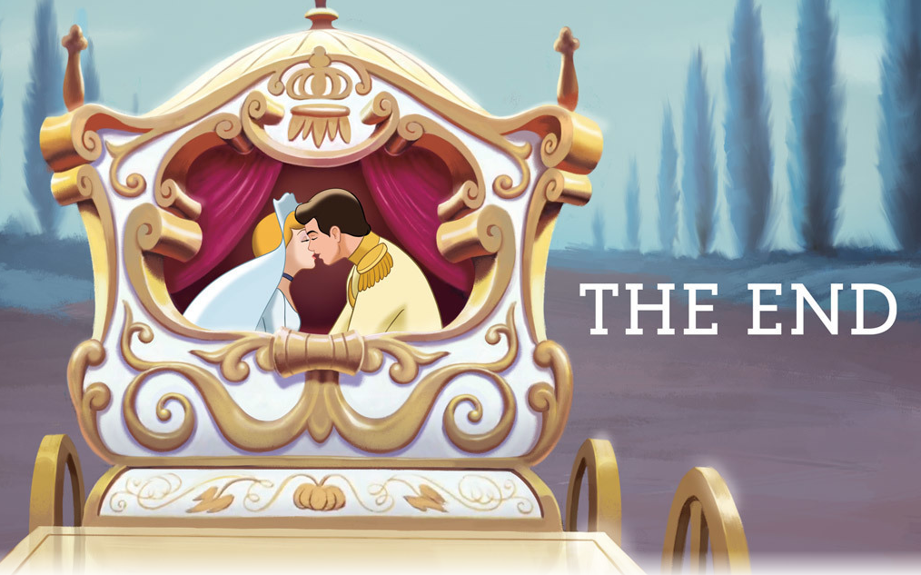 Artwork from the book - Cinderella's Story – Disney Princess by ColoringPagesOnly.Com  - Ourboox.com