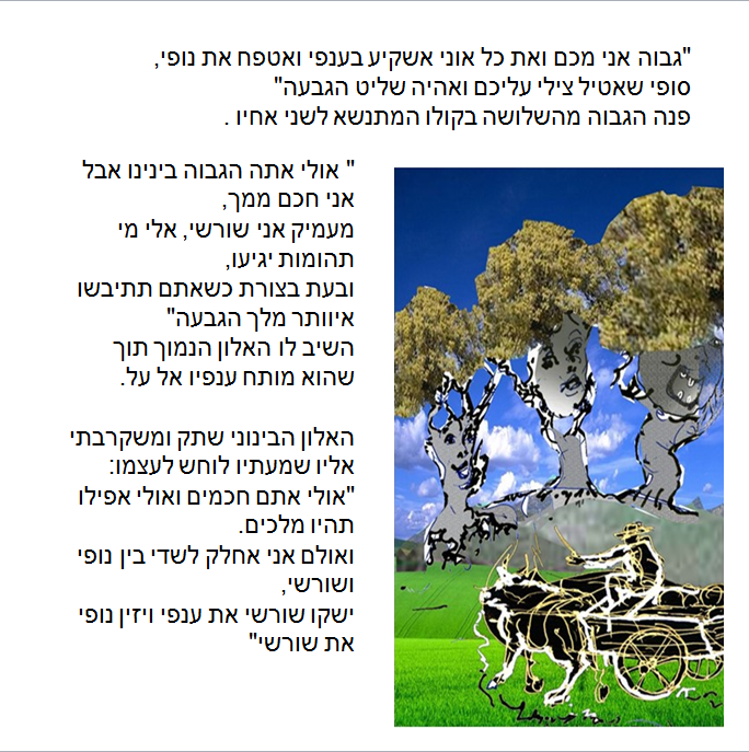 Artwork from the book - גבעת האלון הגדול by צביקה ויסברוד - Illustrated by  אריה טופור - Ourboox.com