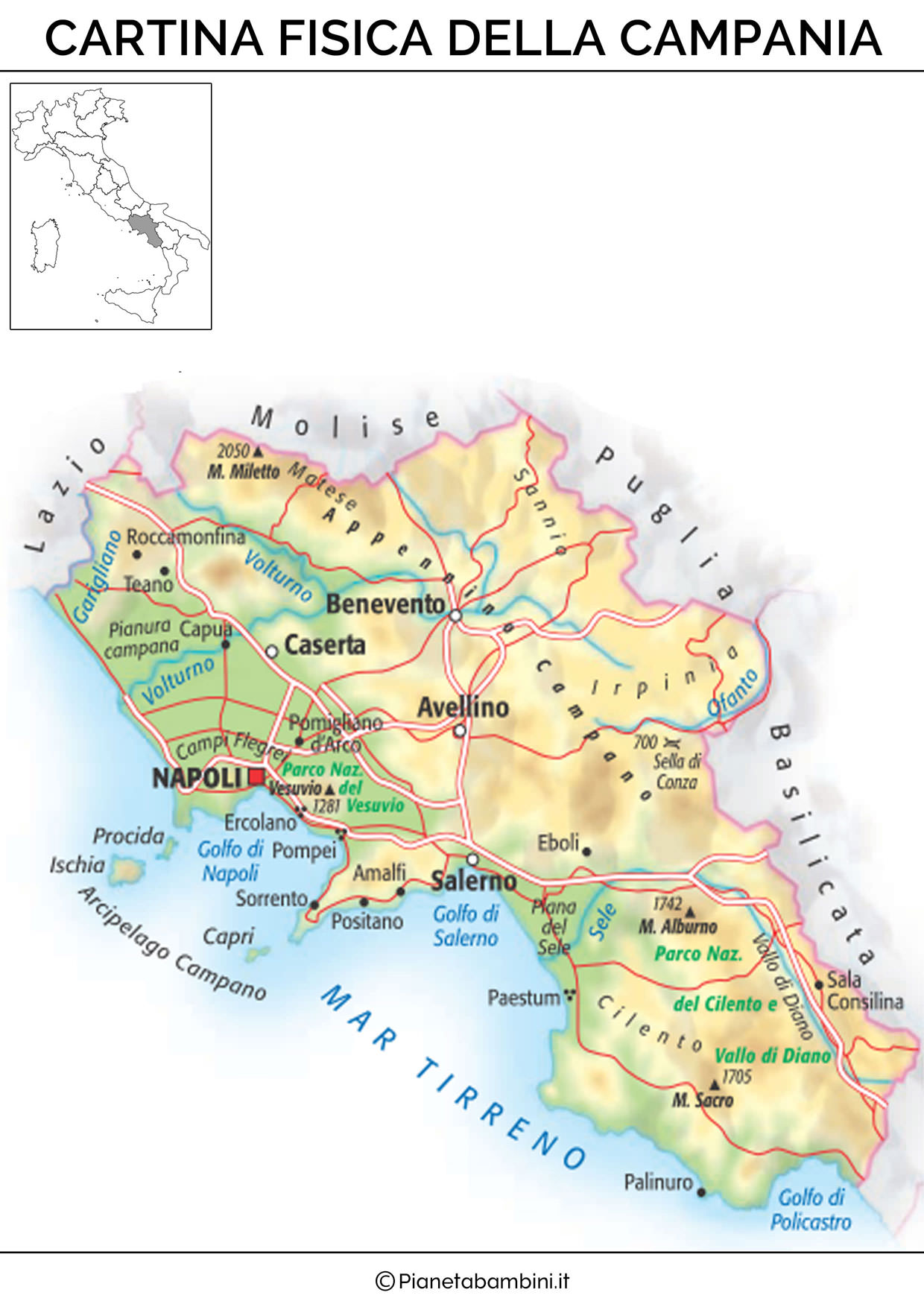 Cartina Fiumi Campania Pieterduisenberg