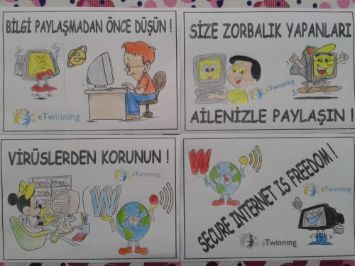 Artwork from the book - SAFER INTERNET DAY by Levent TOROS - Illustrated by Necatibey Primary School - Ourboox.com