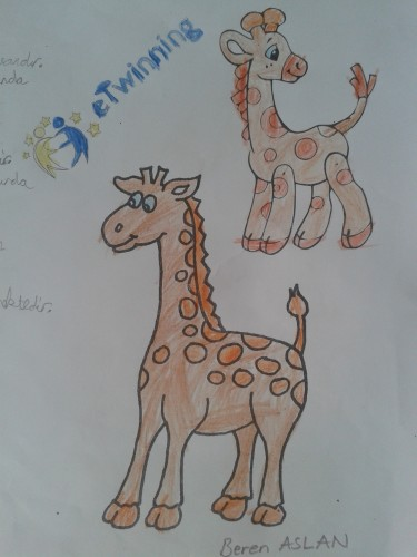 Artwork from the book - ANIMALS OF THE FOREST by Levent TOROS - Illustrated by Necatibey Primary School 3-B Class - Ourboox.com