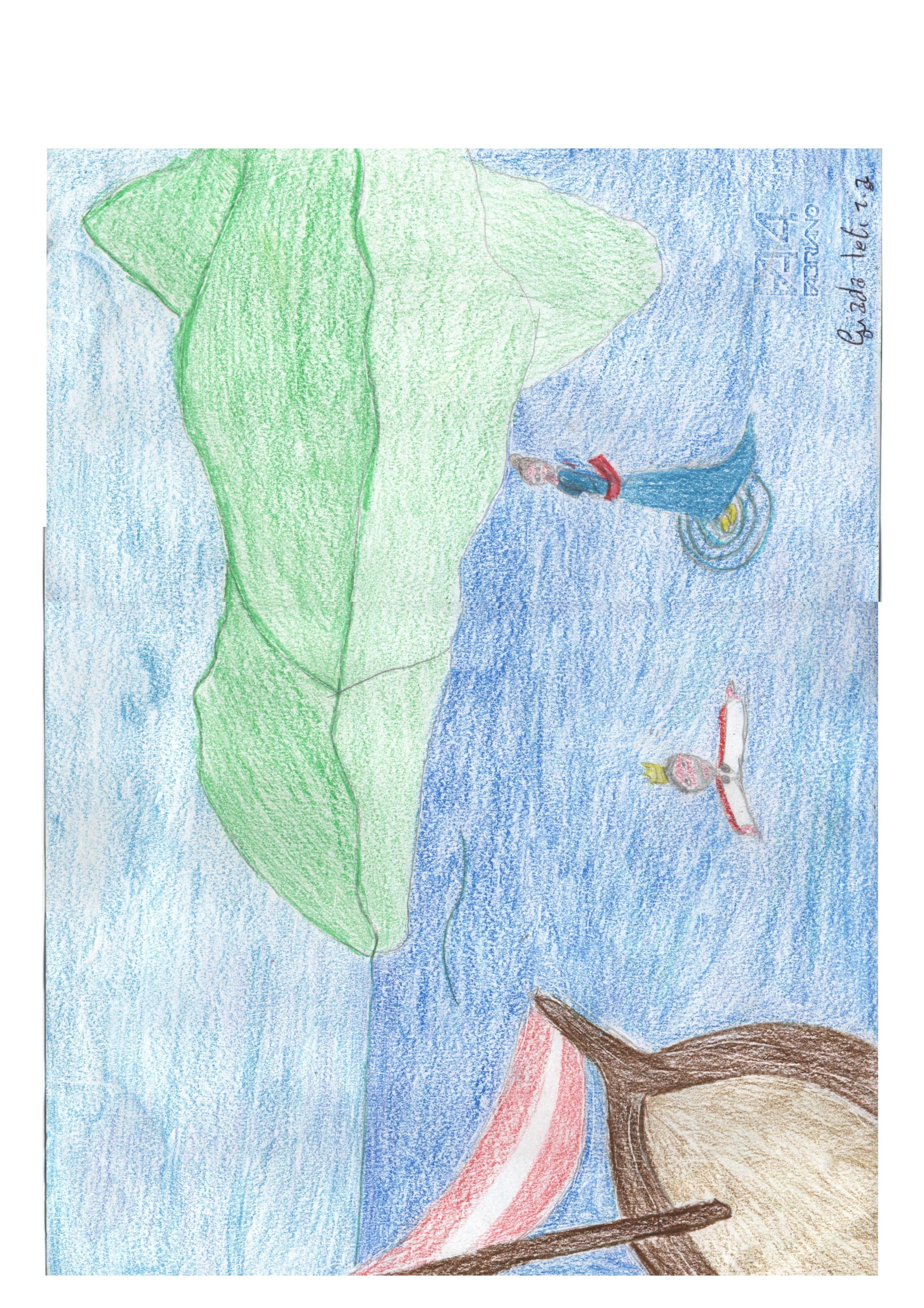 Artwork from the book - Un effetto ottico meraviglioso: La Fata Morgana by Fulvio - Illustrated by Classe 1^A - Ourboox.com