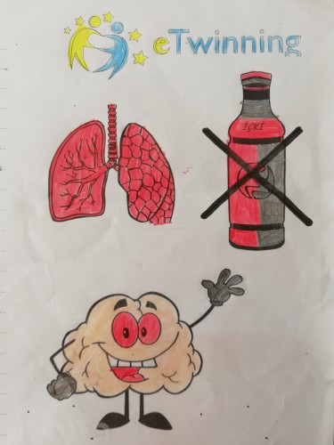 Artwork from the book - World's Health Problems by Levent TOROS - Illustrated by Necatibey Primary School 3-B Class - Ourboox.com