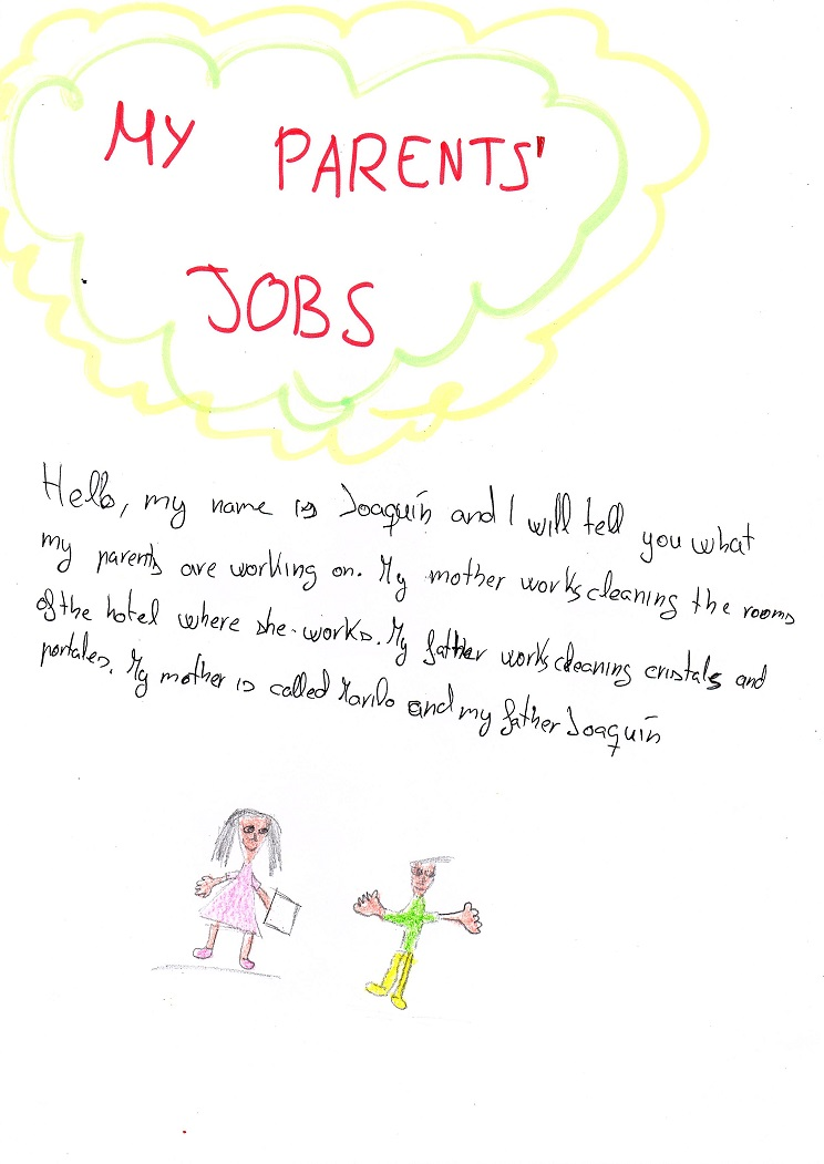 Artwork from the book - OUR PARENTS' JOBS by Eva García - Ourboox.com