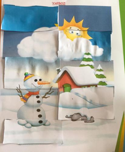 Artwork from the book - KIŞ, BİR YILDAN DİĞERİNE KÖPRÜ KURAN MEVSİMDİR by Elif - Illustrated by Elif KIYMET - Ourboox.com