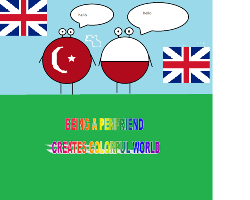 Artwork from the book - Being a Penfriend Creates a Colorful World E-twinning Project E-magazine by Bahar Guner - Illustrated by Bahar Güner,Fulya Uysal,Cecilia Silva,Alicja Pufka - Ourboox.com