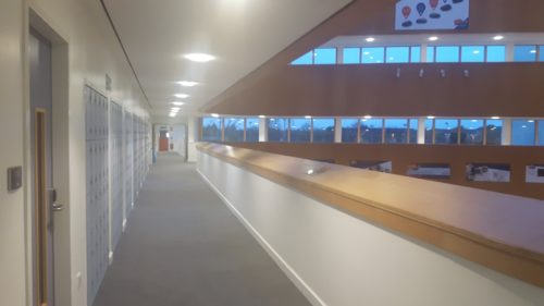 This is our school inside. we have 3 floor and we are nearly 1000 students with around 100 teachers.