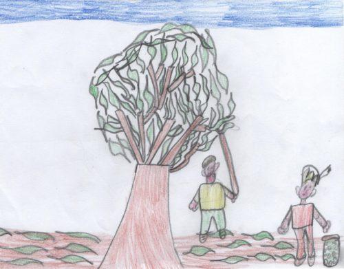 """Artwork from the book - TRAPANI A TAVOLA by I.C. """"NUNZIO NASI"""" TRAPANI SCUOLA PRIMARIA - Illustrated by ALUNNI 1^A  E  1^B   A.S. 2017/2018 - Ourboox.com"""