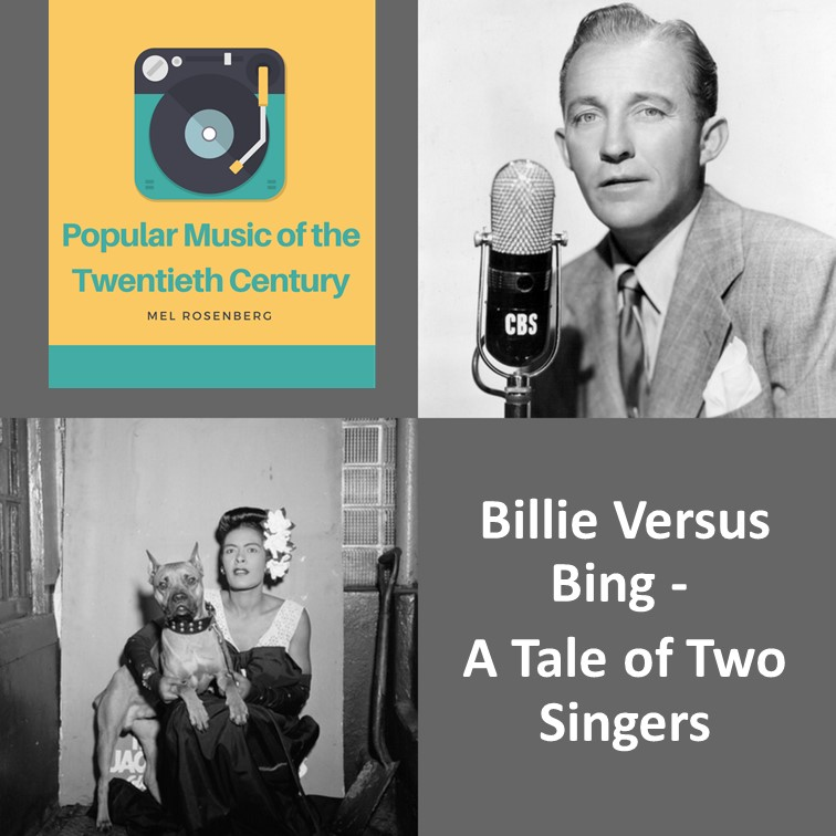 Artwork from the book - Billie versus Bing – A Tale of Two Singers by Mel Rosenberg - מל רוזנברג - Ourboox.com