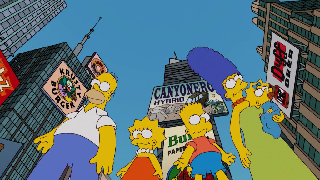 Artwork from the book - The Simpsons Stories: New York City by Darcy May Partridge - Ourboox.com