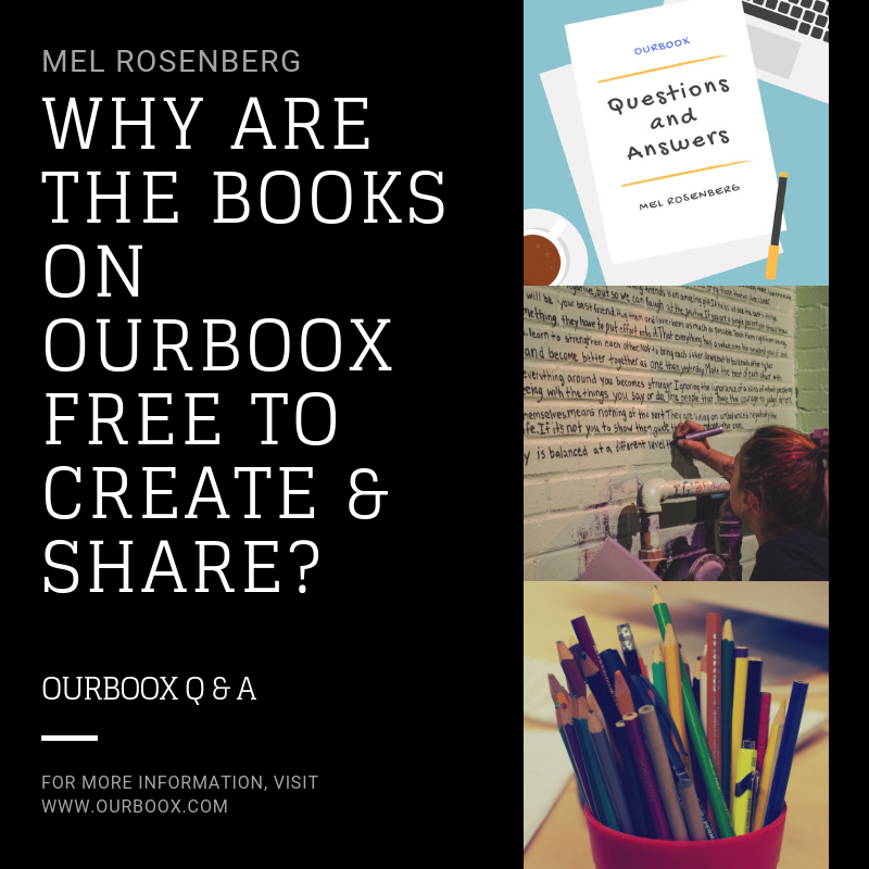 Artwork from the book - Why are the Books on Ourboox Free to Create and Share? by Mel Rosenberg - מל רוזנברג - Ourboox.com