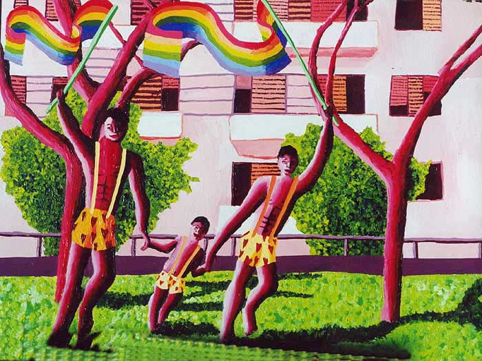 gay family paintings