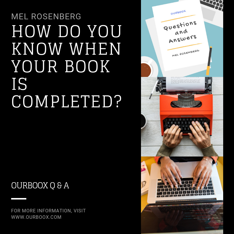 Artwork from the book - How Do You Know When Your Book is Completed? by Mel Rosenberg - מל רוזנברג - Ourboox.com